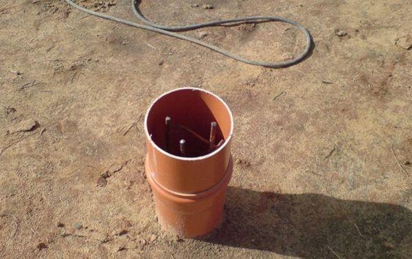 Фундамент для беседки из пластиковых труб
