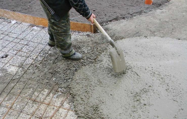 бетонирование дорожки