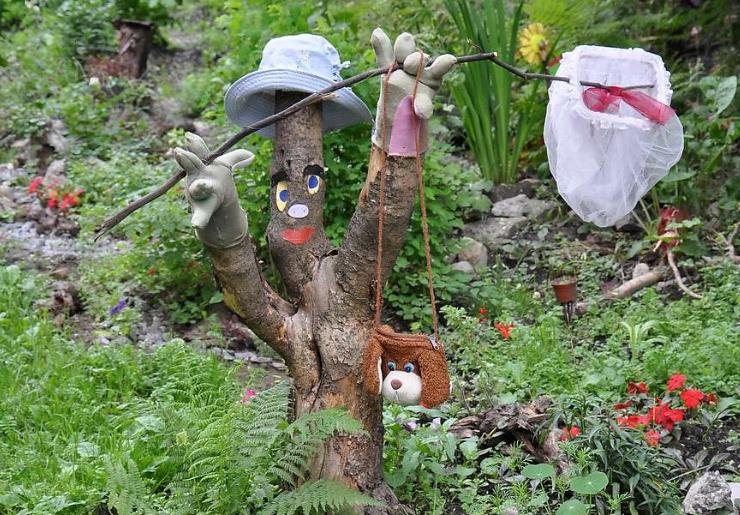 Каменные человечки для украшения сада