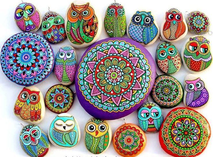 Вдохновляющие идеи для росписи декоративного камня