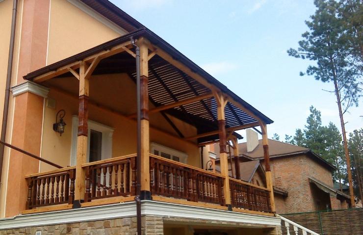 Пример оформления деревянной террасы